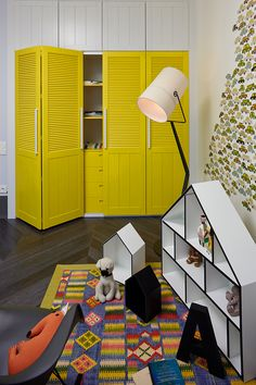 Colorful and Diverse Small Apartment in Kiev by Rina Lovko