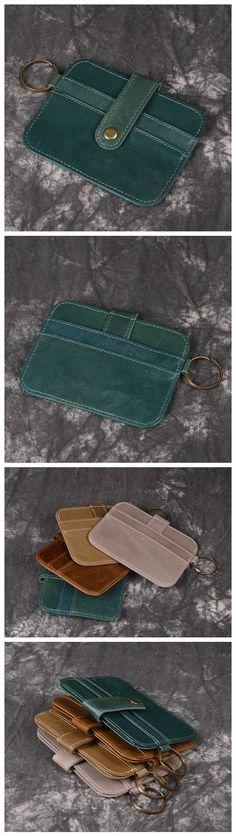 19236edd8a Handmade Genuine Leather Wallet Unisex Card Holder Leather Card Wallet