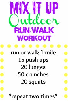 Outdoor Running or Walking Workout