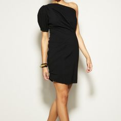 **Reg. $138** NWT Eva Franco Dress Beautiful spin on the LBD.  Knit crepe one shoulder dress with shirred side for added interest.  Purchased for an event but never worn. Eva Franco Dresses