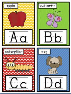 Queen of the First Grade Jungle: Lots of different colors of alphabet cards