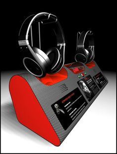 Stand, Headphone Display; Designed by Ian Gilley