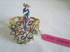 Betsey Johnson Jewelry Moroccan Adventure Peacock bracelet
