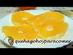 ¿Qué hago hoy para comer?: Naranjas preparadas con azúcar