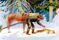 Rudolf Koivu Vintage Book Art, Good Old Times, Fairytale Art, Typography Prints, Finland, Art For Kids, Fairy Tales, Scandinavian, Artwork