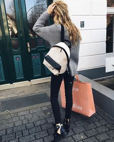 Image shared by Passion for fashion. Find images and videos about girl, fashion and style on We Heart It - the app to get lost in what you love. Marie Von Behrens, Fitness Inspiration, Style Inspiration, Model Street Style, Get Dressed, My Wardrobe, Passion For Fashion, Leather Backpack, What To Wear