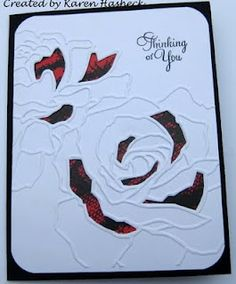Cut out pieces of embossed SU rose