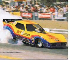 """John Force's """"Wendy's"""" Corvette F/C."""