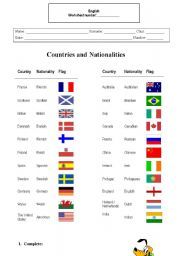countries and nationalities exercises - Pesquisa Google