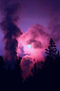 mysterious night sky