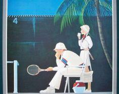 Tennis - Chuck Wilkinson x vintage tennis poster print sport poster Tennis Shop, Sport Tennis, Sports Images, Sports Pictures, Badminton Tips, Tennis Posters, How To Play Tennis, Tennis Pictures, Vintage Tennis