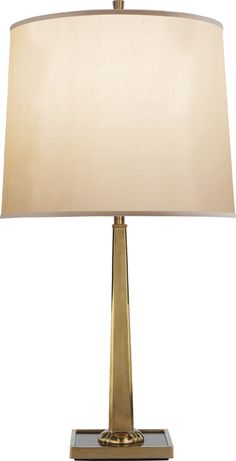 PETAL DESK LAMP WITH BRONZE MIRRORED BASE