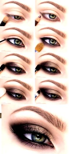 if you are looking for smoky and glam eye makeup look.here they are the most trendy eye makeup looks by top international makeup artists.donot miss thesse step by step tutorials Smokey Eye Makeup Tutorial, Eye Tutorial, Makeup Trends, Makeup Tips, Makeup Tutorials, Smokey Eyes Anleitung, Halloween Makeup Anleitung, Beginner Eyeshadow, Piercings
