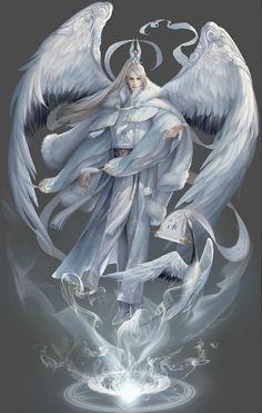 Engel art angel and devil Fantasy Kunst, Dark Fantasy Art, Fantasy Artwork, Dark Artwork, Fantasy Character Design, Character Inspiration, Character Art, Dark Angels, Angels And Demons