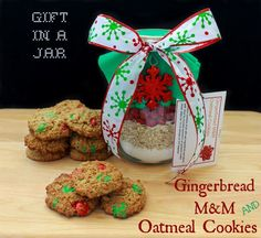 Seriously Cute For Holiday Giving! #DIY Gifts In A Jar Oatmeal Cookie Mix | Sassy Girlz Blog