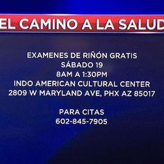 Exámenes De Riñón Grátis!! #Salud