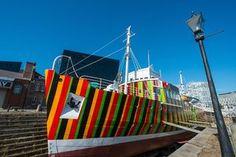 Dazzle Ship by artist Carlos Cruz-Diez, 2014