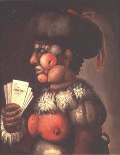 Giuseppe Arcimboldo - The Lady of Good Taste  #arcimboldo #paintings #art