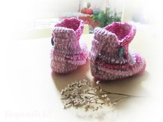 Children's slippers, girl slippers, crochet slippers