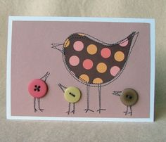 Mother bird beautiful card for mothers day by moonmum on Etsy