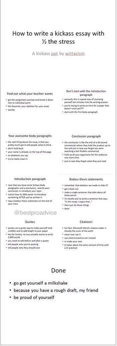 How to write an essay keep handy this college degree! And switch the milkshake for something red that rhymes with swine!