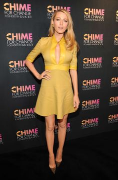 At a 'Chime for Change' Gucci event in New York in 2014. See all of Blake Lively's best looks.
