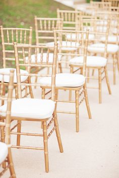 Gold tiffany chairs.   Tanya and Raphael   ExtraOrdinary Weddings   Photographed by Ivan Tan Photography