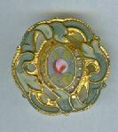 Early Champleve OPENWORK Enamel Button, Small ROSE
