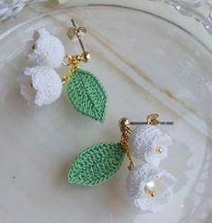 Diy Jewelry Projects, Jewelry Crafts, Pony Bead Patterns, Crochet Patterns, Crochet Flowers, Crochet Lace, Beaded Jewelry, Handmade Jewelry, Jewellery