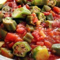 Photo recette : Ratatouille au gombo et à la tomate