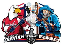 #EPoole88 (Eric Poole) is back with his renditions of the first-round Stanley Cup playoff matchups. This is for the Eastern Conference series between the Washington Capitals and the New York Islanders.