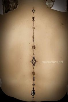 Amazing amazigh back tattoo