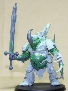 Svartmetall wasn't happy with the ForgeWorld Nurgle Deamon Prince, so he's been modifying it for #dreadtober
