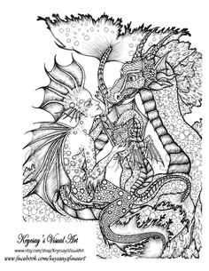 Adult Child Coloring Page Sea Serpent And By KeyesaysVisualArt Children PagesColoring BooksSea