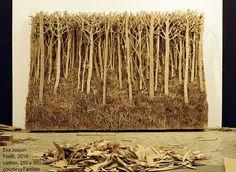 Eva Jospin, forêt, sculpture carton ondulé