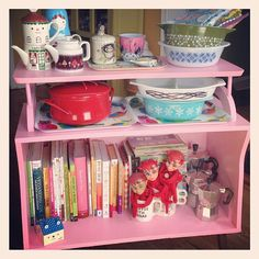 .@Heidi Haugen Haugen Kenney | The pink cabinet is done!! It actually is going up against the window in the ...