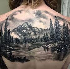 Znalezione obrazy dla zapytania landscape tattoos
