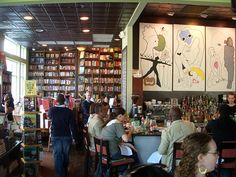 Busboys and Poets in DC, one of the few on here I've actually been to. Combination bookstore, coffee shop, restaurant, bar, and venue. Pure heaven.
