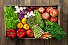 Organic Fruits and Veggie farm basket is how everyday starts for The Greenleaf prep cook crew.