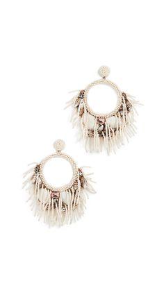 Deepa Gurnani Lelani Earrings In Ivory India Fashion, World Of Fashion, Deepa Gurnani, Pearl Beads, Streetwear Fashion, Luxury Branding, Soft Fabrics, Women Accessories, Shells