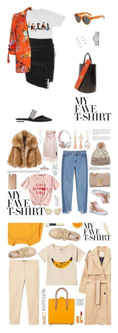 """""""Winners for Dress Up a T-Shirt"""" by polyvore ❤ liked on Polyvore featuring Prada, Suecomma Bonnie, Danse Lente, Givenchy, River Island, Forever 21, Calvin Klein, Monki, Vans and Louis Vuitton"""