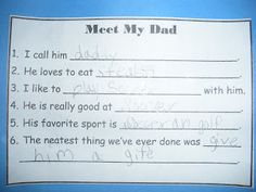 Donuts with Dads....write about dad