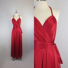 vintage 70s draped maxi dress / goddess dress