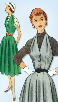 1950s Dress Patterns, Mccalls Sewing Patterns, Vintage Sewing Patterns, Barbie Patterns, Mode Vintage, Vintage Ladies, Vintage Style, Vintage Dresses, Vintage Outfits