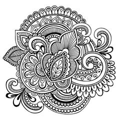 Paisley 51 Coloring Page