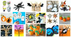 The coolest Halloween crafts for kids out there- including spooky trees, adorable bats, funky spiders, sweet pumpkins, and funny witches and skulls!