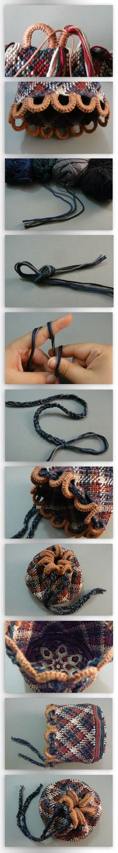 Pouch Tutorial Part V (Cord and finished Pouch) by ~nimuae on deviantART