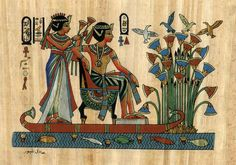 Egyptian Painting Papyrus