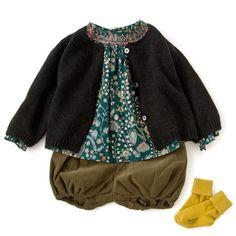 LILI et NENE (リリ・エ・ネネ)|BONTON(ボントン),BONTON(ボンポワン)などベビーのコーディネートアイデア Cute Outfits For Kids, Cute Kids, Stylish Baby Girls, Baby Style, Kid Styles, Baby Girl Fashion, Kids Wear, Kid Stuff, Doll Clothes