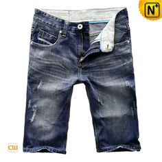 Denim Walkshort Mens Jean Shorts CW100113 $69.89 - www.cwmalls.com Regular fit blue denim walkshort mens jean shorts made of faded blue 100% denim cotton fabric, features with 5 pockets including coin pocket, belt loops and vintage effect!